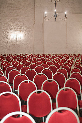 Red theatre chairs - p2686533 by Jana Kay