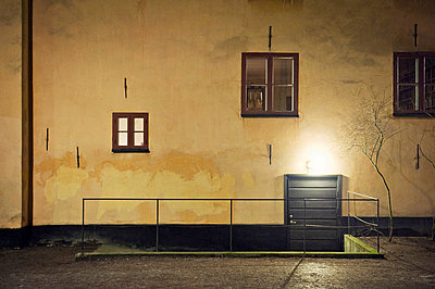 A wall at night, Sweden. - p31224534f by Alexander Crispin