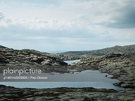 Rocky coast, Hardangerfjord, Norway - p1481m2203825 by Peo Olsson