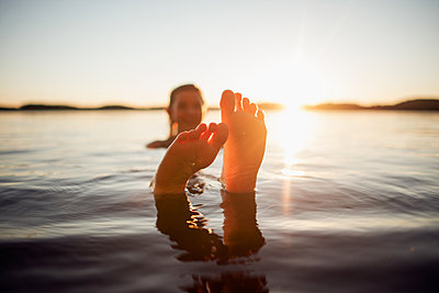 First swim of the summer - p1507m2037878 by Emma Grann
