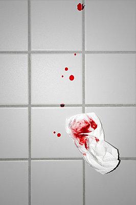 Blood and handkerchief - p7150122 by Marina Biederbick