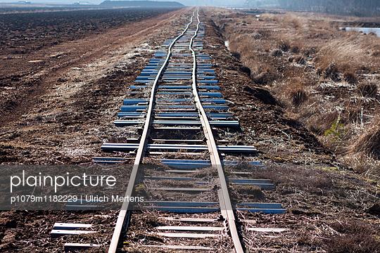 Schienentrasse im Himmelmoor - p1079m1182229 von Ulrich Mertens