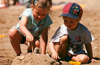 Sand castle - p0060102 by Richard Bareis