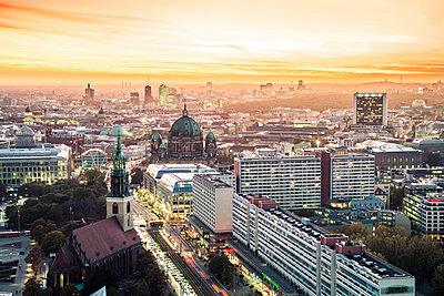 Berlin cityscape - p1062m1172166 by Viviana Falcomer