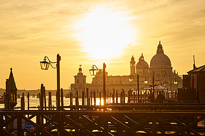 Santa Maria della Salute at sunset - p1312m1575186 by Axel Killian