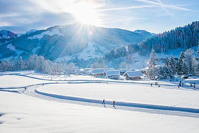 Austria, Salzburg State, Pongau, Wagrein in winter - p300m2083364 by Hans Mitterer