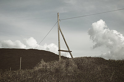 Wooden electric poles - p564m1185128 by Dona