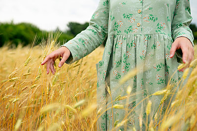 Young woman in a cornfield - p1646m2260619 by Slava Chistyakov
