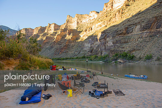 Rafting in Desolation and Gray Canyons, Green River, Utah. - p343m1168080 by Taylor Reilly