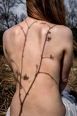Woman's back - p1019m2073366 by Stephen Carroll