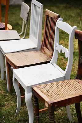 Chairs in a row - p312m971125f by Per Eriksson