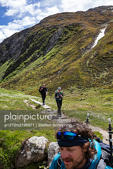 Hiking In The Alps - p1272m2196871 by Steffen Scheyhing