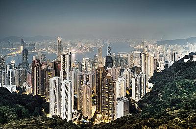 Hongkong Skyline - p1202m1061243 von Jörg Schwalfenberg