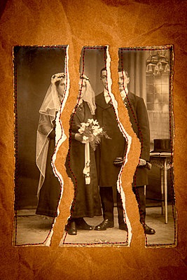 Torn old photo - p451m2272332 by Anja Weber-Decker