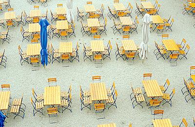 Sidewalk cafe - p1160040 by Gianna Schade