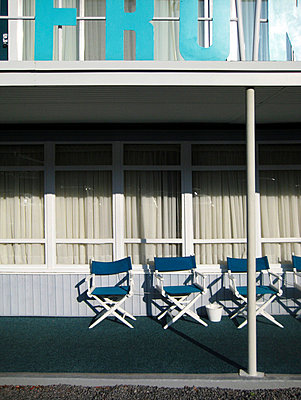 Terrace of a motel - p9380046 by Christina Holmes