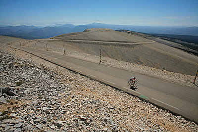 Back to Nature, Riding up the Mont Ventoux, ' The Giant of Provence ', France - p1028m2204656 by Jean Marmeisse