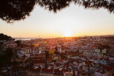 Sonnenuntergang über Lissabon - p1357m2164324 von Amadeus Waldner