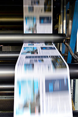 Printing of newspapers in a printing shop - p300m2213845 by lyzs