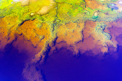 Spain, Andalusia, water of the Rio Tinto, coloured by dissolved minerals, primarily iron - p300m2004795 by David Santiago Garcia