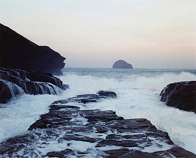 incoming tide at sunrise - p4295704 by Lottie Davies