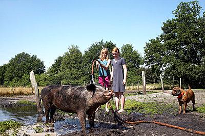 Schwein im Paradies - p4060447 von clack