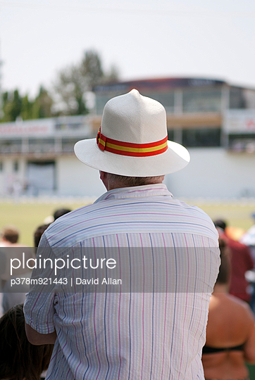 Man in Panama hat