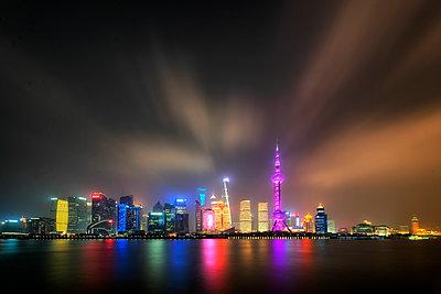 Shanghai Skyline Number 2 - p1154m2022414 by Tom Hogan