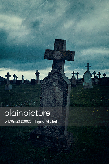 Cemetery on the Isle of Barra, Scotland - p470m2128885 by Ingrid Michel