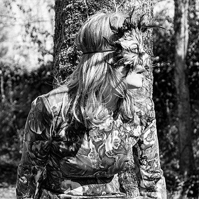 Vogelfrau - p1543m2122117 von Sophia Snadli