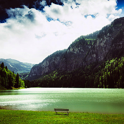 Lake of Montriond. Haute-Savoie. France - p813m1461279 by B.Jaubert