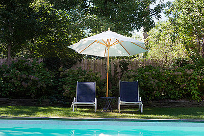 Gazebo and pool - p956m748785 by Anna Quinn