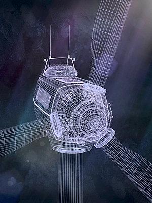 Windrad 3d CGI Konzept - p1275m1468165 von cgimanufaktur