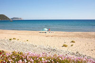 Nearly empty beach - p454m2191543 by Lubitz + Dorner
