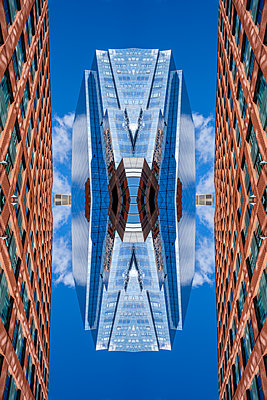 Abstract Architecture Kaleidoscope Boston - p401m2221897 by Frank Baquet