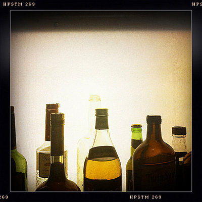 Bottles of alcohol.     - p3438469 by Andrew Tolson