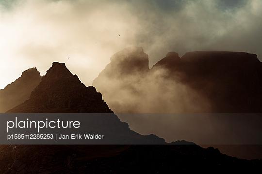 Mountain in the mist - p1585m2285253 by Jan Erik Waider