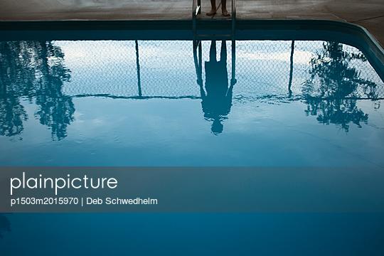 Pool Reflection - p1503m2015970 by Deb Schwedhelm