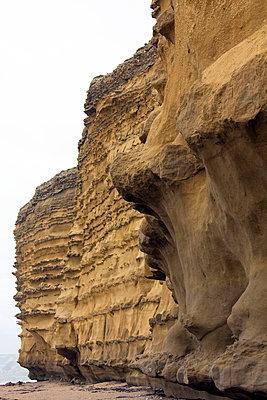 Hive Beach cliffs 1 - p1072m836218 by Gail Symes