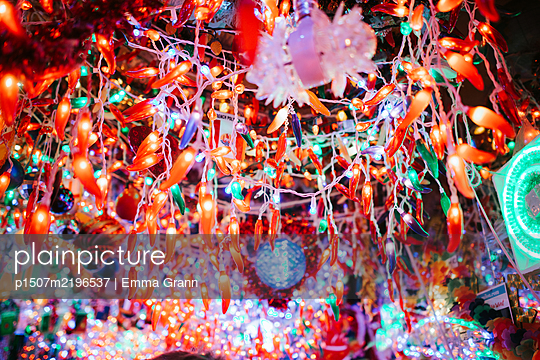 Colourful fairy lights, variety of shapes - p1507m2196537 by Emma Grann