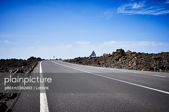 Country road in Lanzarote - p851m1362493 by Lohfink