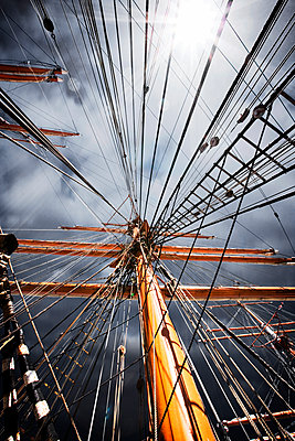 Low Angle View Of Ship Mast  - p1084m1036835 by GUSK
