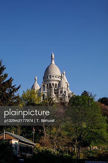 Montmartre, Basilika Sacré-Cœur, Paris, France, shutdown due to Covid-19 - p1329m2177974 by T. Béhuret
