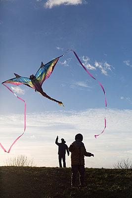Drachen steigen lassen - p1308m1332332 von felice douglas