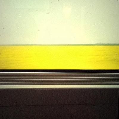 Blick aus dem fahrenden Zug - p9112588 von Thao