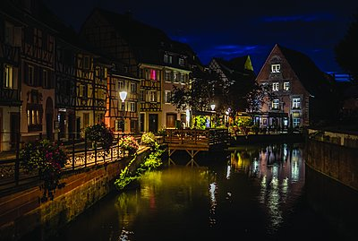 France, Colmar at night - p1402m2205578 by Jerome Paressant
