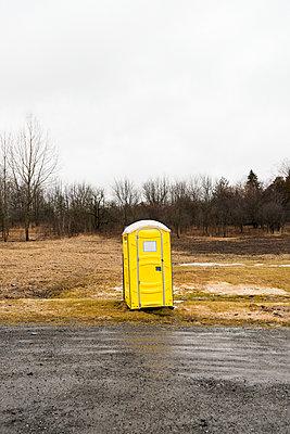 Yellow Portable Toilet - p1335m1362071 by Daniel Cullen