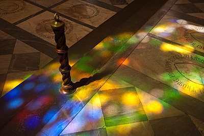 A colourful glass window reflection glass on the Basilica di Santa Maria Novella floor - p3314071 by Andrea Alborno