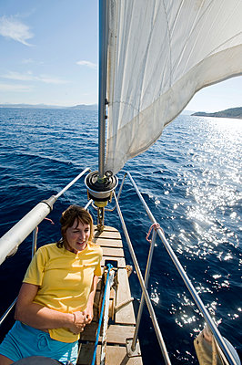 A woman on a sailing-boat - p575m1075102f by Fredrik Schlyter