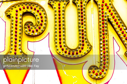 Funfair, Neon sign - p1523m2071455 by Nic Fey